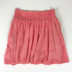 Old Navy coral ditsy floral skirt